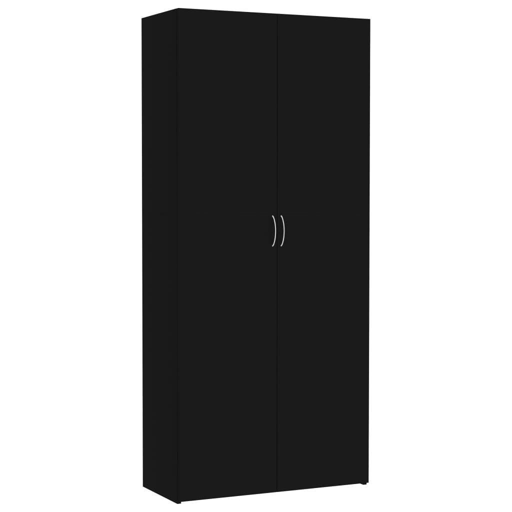 vidaXL Szafa, czarna, 80 x 35,5 x 180 cm, płyta wiórowa