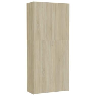 vidaXL Dulap de depozitare, stejar Sonoma, 80 x 35,5 x 180 cm, PAL[2/8]