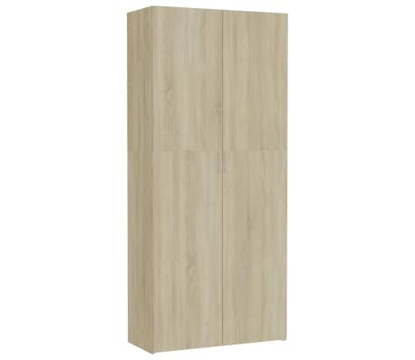 vidaXL Dulap de depozitare, stejar Sonoma, 80 x 35,5 x 180 cm, PAL[1/8]