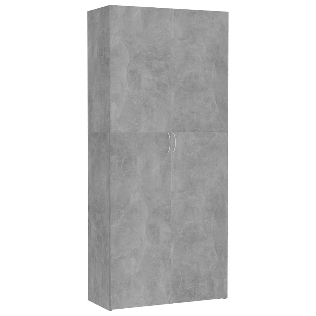 vidaXL Dulap de depozitare, gri beton, 80 x 35,5 x 180 cm, PAL vidaxl.ro