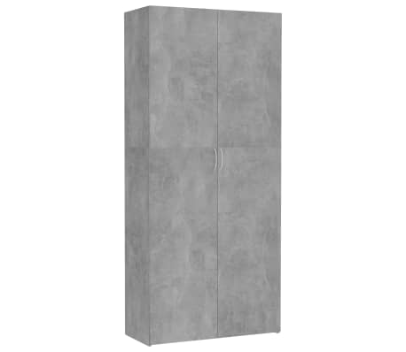 "vidaXL Storage Cabinet Concrete Gray 31.5""x14""x70.9"" Chipboard"