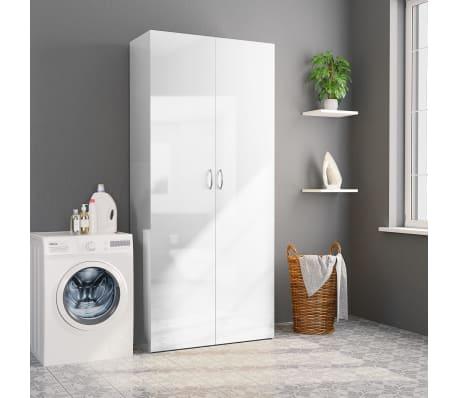 vidaXL Armoire de rangement Blanc brillant 80x35,5x180 cm Aggloméré[4/8]