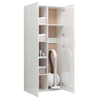 vidaXL Armoire de rangement Blanc brillant 80x35,5x180 cm Aggloméré[5/8]