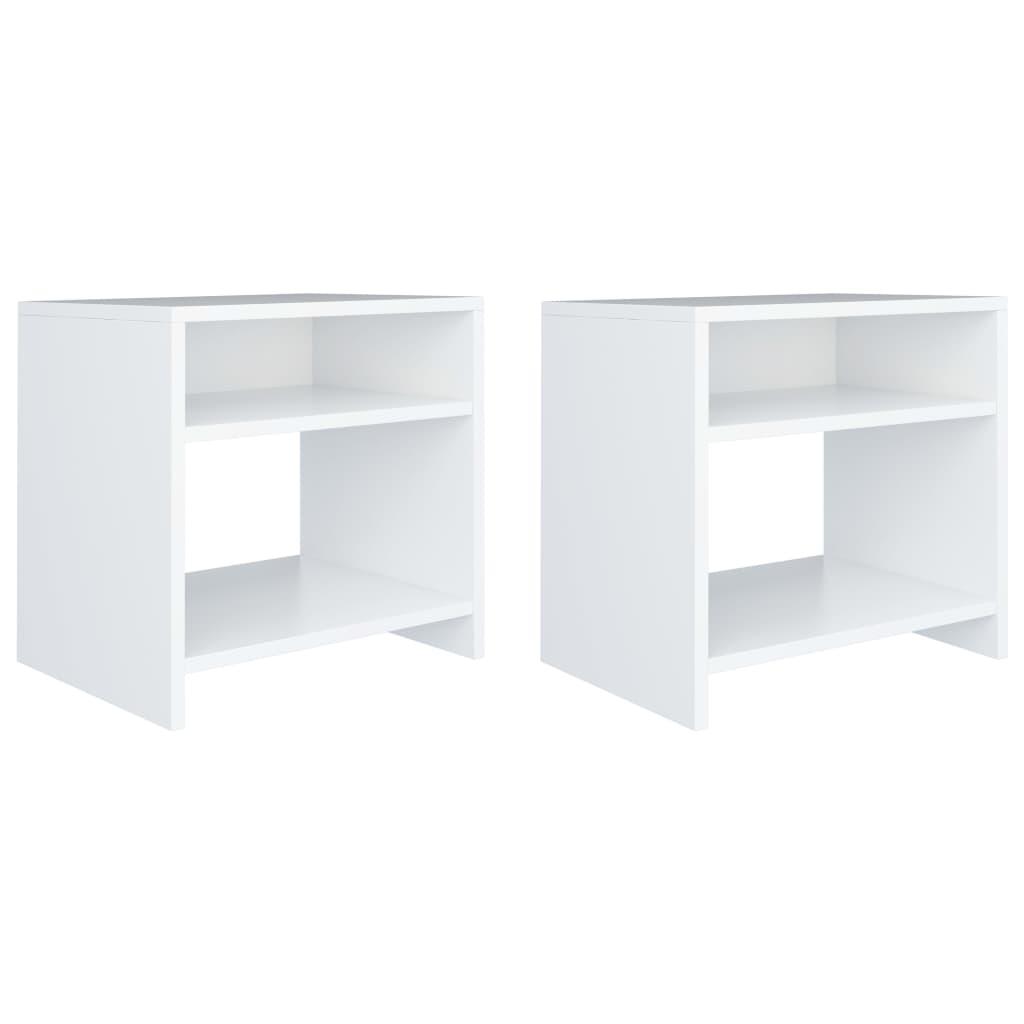 vidaXL Noční stolky 2 ks bílé 40 x 30 x 40 cm dřevotříska