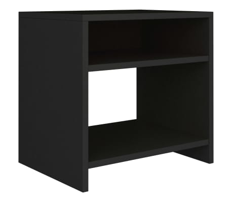 "vidaXL Side Cabinet Black 15.7""x11.8""x15.7"" Chipboard[2/6]"