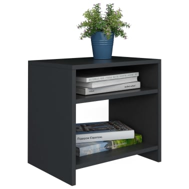 "vidaXL Side Cabinet Black 15.7""x11.8""x15.7"" Chipboard[3/6]"