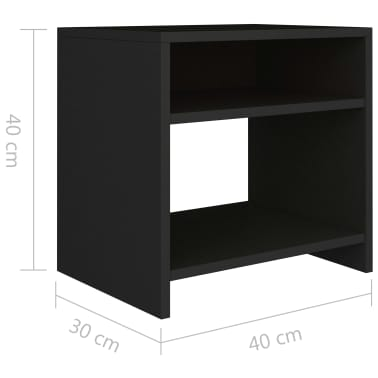 "vidaXL Side Cabinet Black 15.7""x11.8""x15.7"" Chipboard[6/6]"