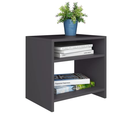 "vidaXL Side Cabinet Gray 15.7""x11.8""x15.7"" Chipboard[3/6]"