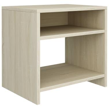 """vidaXL Bedside Cabinet Sonoma Oak 15.7""""x11.8""""x15.7"""" Chipboard[2/6]"""