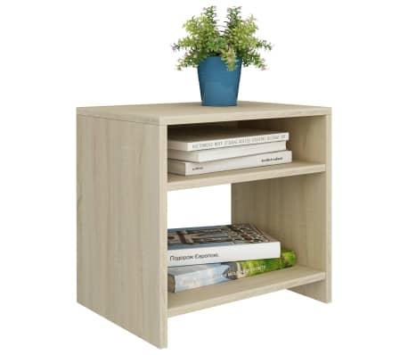 """vidaXL Bedside Cabinet Sonoma Oak 15.7""""x11.8""""x15.7"""" Chipboard[3/6]"""