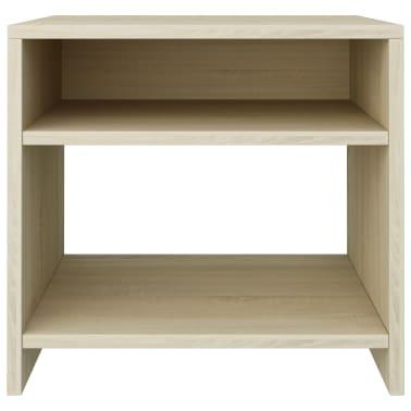"""vidaXL Bedside Cabinet Sonoma Oak 15.7""""x11.8""""x15.7"""" Chipboard[4/6]"""