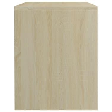 """vidaXL Bedside Cabinet Sonoma Oak 15.7""""x11.8""""x15.7"""" Chipboard[5/6]"""