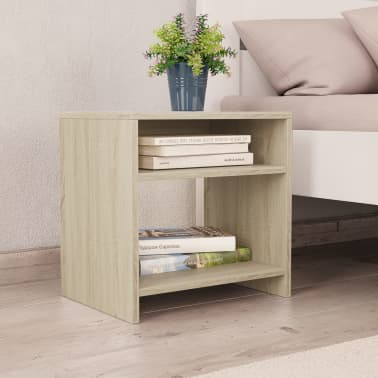 """vidaXL Bedside Cabinet Sonoma Oak 15.7""""x11.8""""x15.7"""" Chipboard[1/6]"""