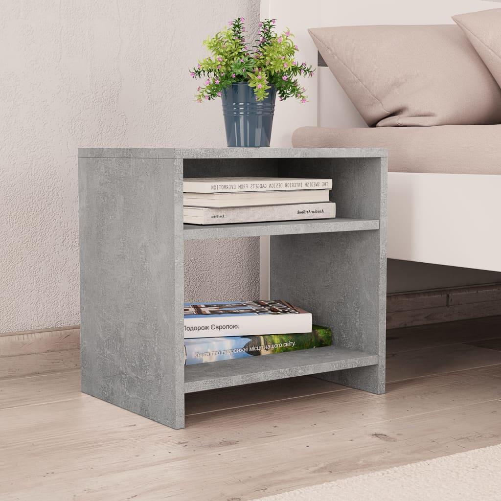 Noční stolek betonově šedý 40 x 30 x 40 cm dřevotříska