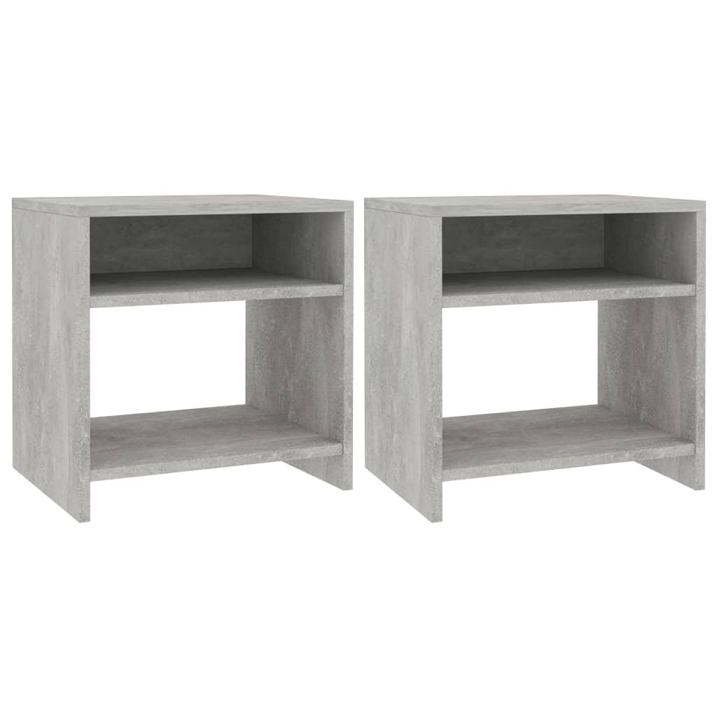 Noční stolky 2 ks betonově šedé 40 x 30 x 40 cm dřevotříska