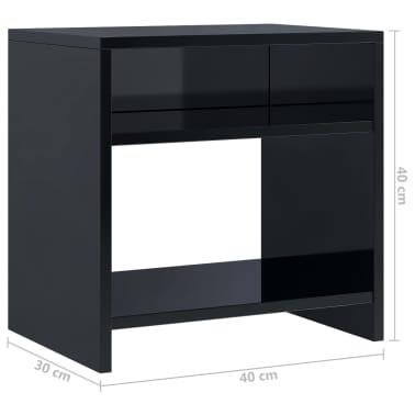 Nakupte Vidaxl Noční Stolek černý S Vysokým Leskem 40 X 30 X