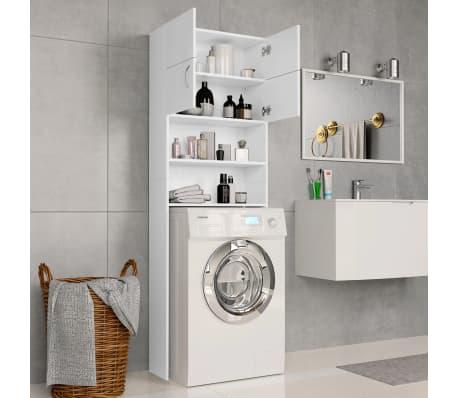 "vidaXL Washing Machine Cabinet White 25.2""x10""x74.8"" Chipboard[3/8]"