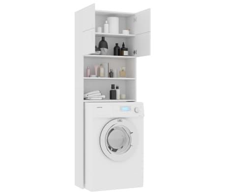 "vidaXL Washing Machine Cabinet White 25.2""x10""x74.8"" Chipboard[4/8]"