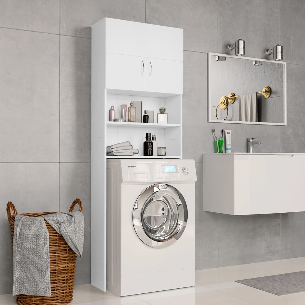 vidaXL Dulap mașina de spălat, alb, 64 x 25,5 x 190 cm, PAL poza 2021 vidaXL