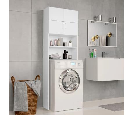 "vidaXL Washing Machine Cabinet White 25.2""x10""x74.8"" Chipboard[1/8]"