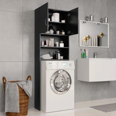 vidaXL Meuble pour machine à laver Noir 64 x 25,5 x 190 cm Aggloméré[3/8]