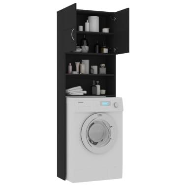 vidaXL Meuble pour machine à laver Noir 64 x 25,5 x 190 cm Aggloméré[4/8]
