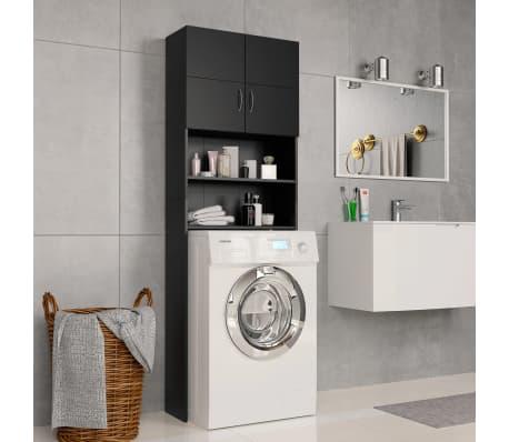 vidaXL Meuble pour machine à laver Noir 64 x 25,5 x 190 cm Aggloméré[1/8]