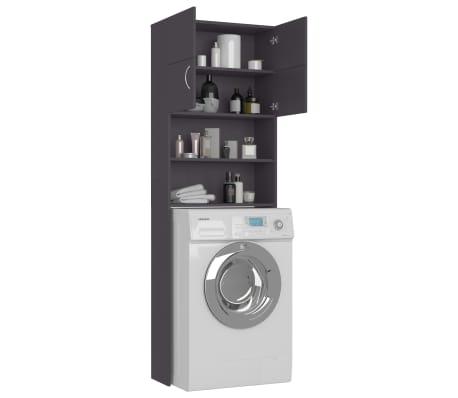 vidaXL Meuble pour machine à laver Gris 64 x 25,5 x 190 cm Aggloméré[4/8]