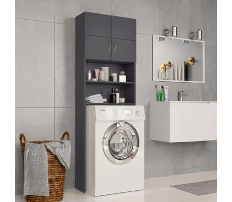 vidaXL Meuble pour machine à laver Gris 64 x 25,5 x 190 cm Aggloméré[1/8]