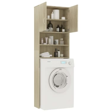 vidaXL Meuble de machine à laver Chêne Sonoma 64x25,5x190 cm Aggloméré[4/8]