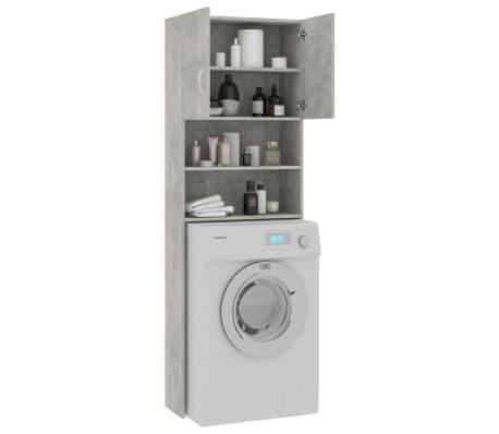 vidaXL Meuble pour machine à laver Gris béton 64x25,5x190 cm Aggloméré[4/8]