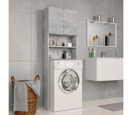 vidaXL Meuble pour machine à laver Gris béton 64x25,5x190 cm Aggloméré[1/8]