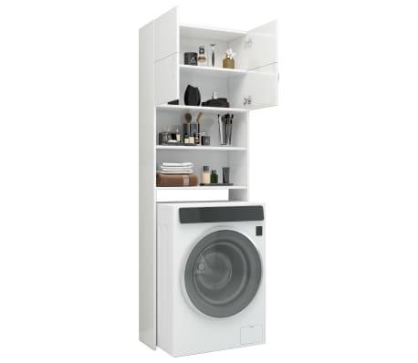 vidaXL Meuble de machine à laver Blanc brillant 64x25,5x190 cm[4/8]