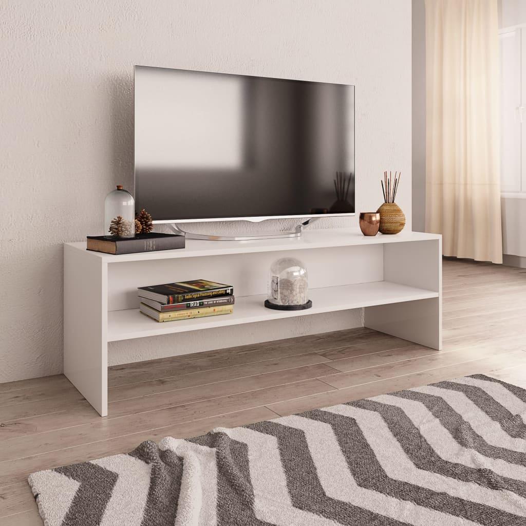 TV stolek bílý 120 x 40 x 40 cm dřevotříska