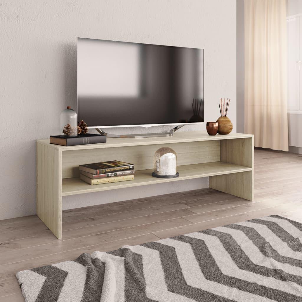 TV stolek dub sonoma 120 x 40 x 40 cm dřevotříska