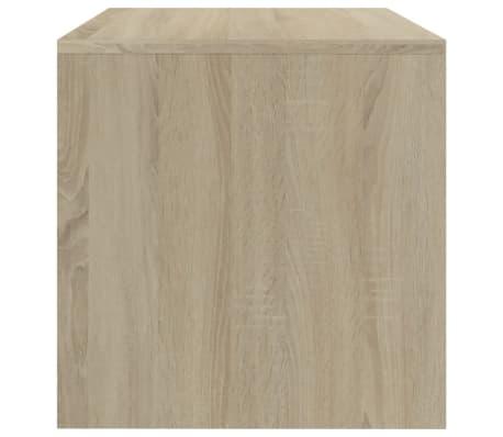 "vidaXL TV Cabinet White and Sonoma Oak 47.2""x15.7""x15.7"" Chipboard[5/6]"