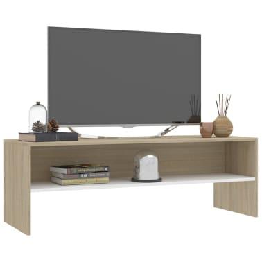"vidaXL TV Cabinet White and Sonoma Oak 47.2""x15.7""x15.7"" Chipboard[3/6]"