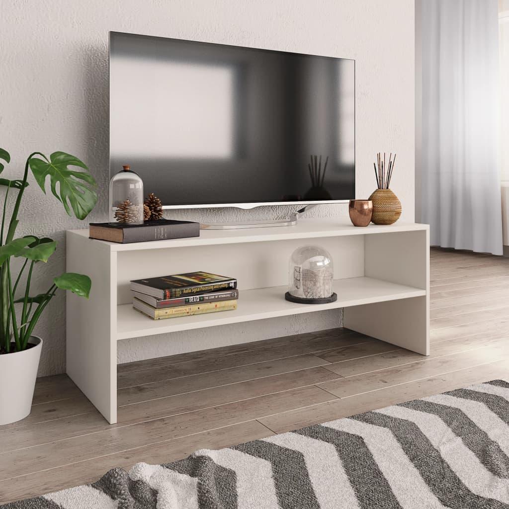 vidaXL Comodă TV, alb, 100 x 40 x 40 cm, PAL vidaxl.ro