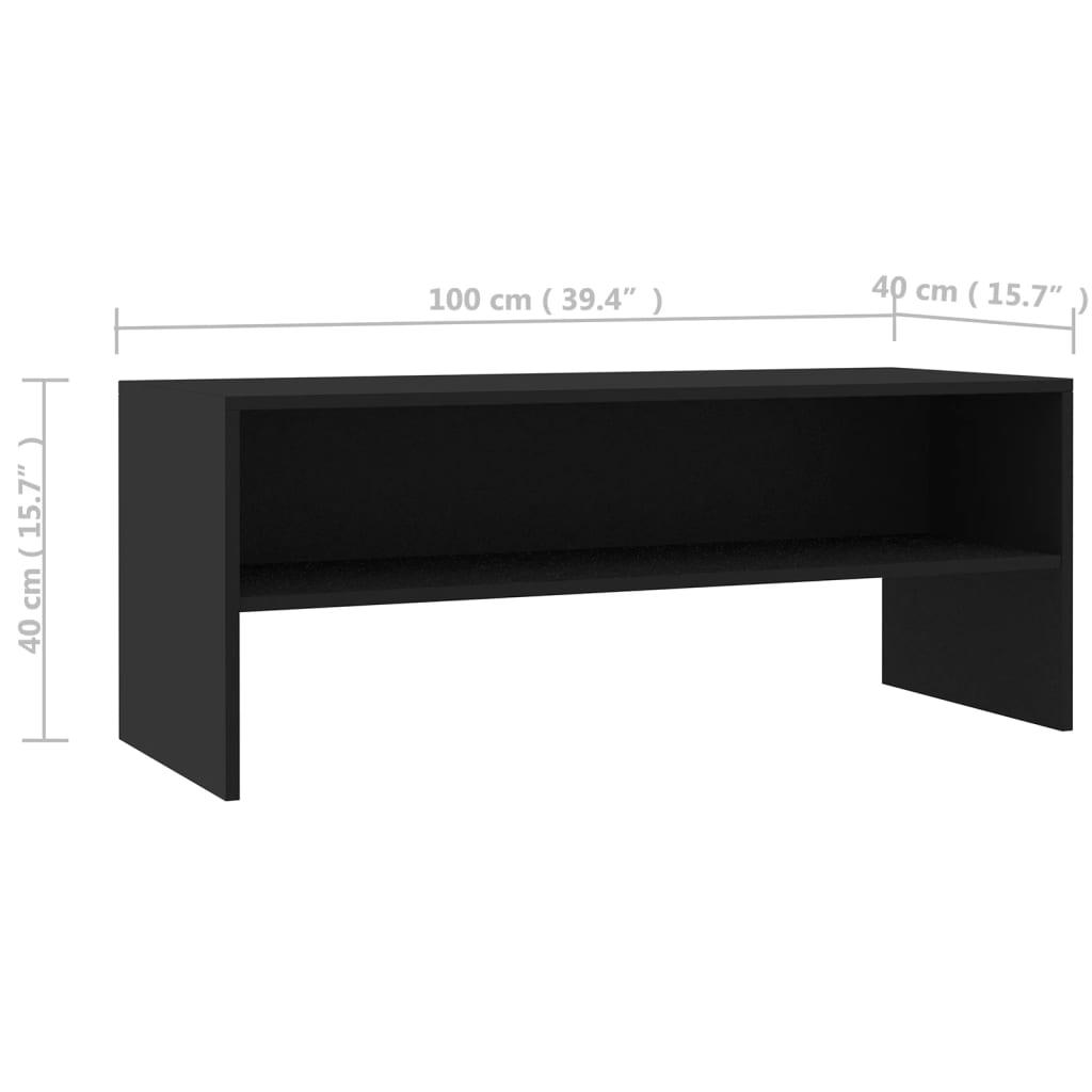 vidaXL Tv-meubel 100x40x40 cm spaanplaat zwart