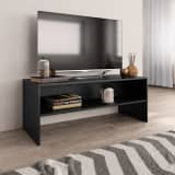 vidaXL TV Cabinet Black 100x40x40 cm Chipboard