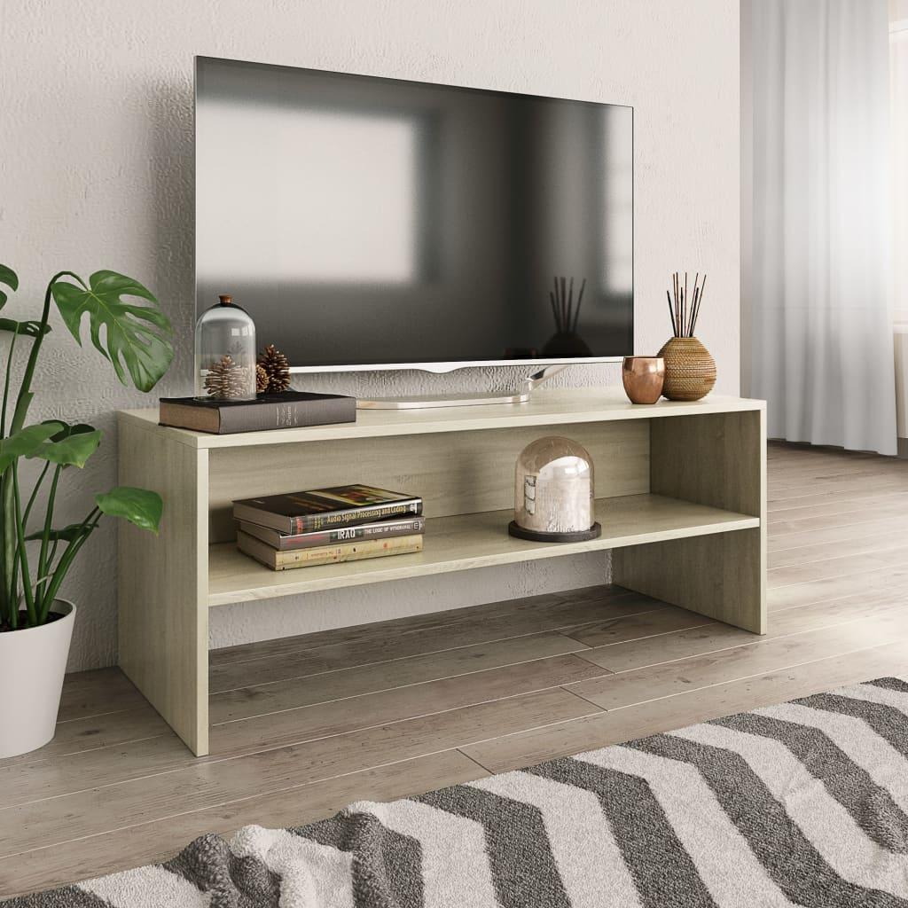TV stolek dub sonoma 100 x 40 x 40 cm dřevotříska