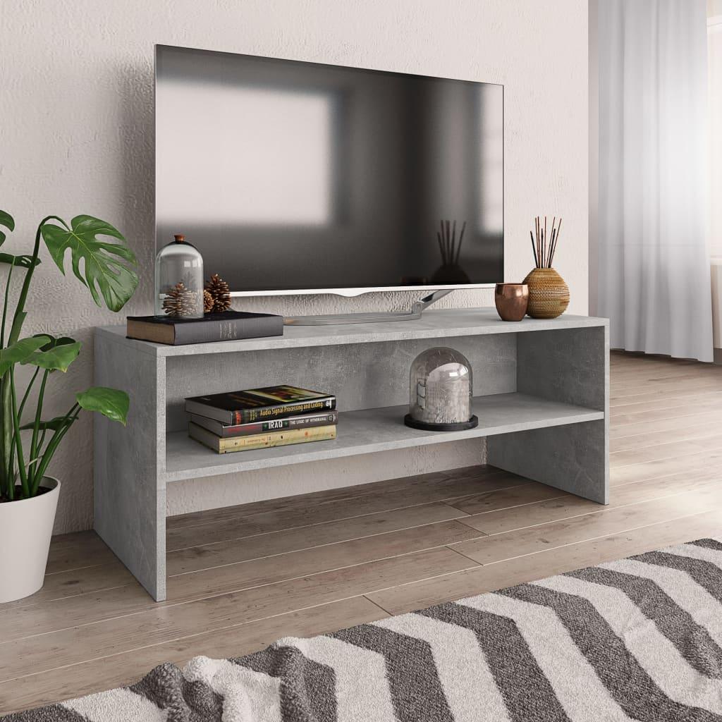 TV stolek šedý 100 x 40 x 40 cm dřevotříska