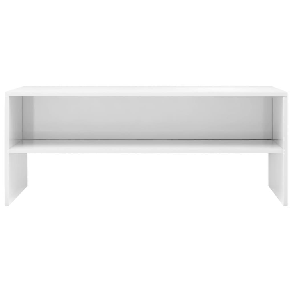 vidaXL Tv-meubel 100x40x40 cm spaanplaat hoogglans wit