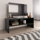 vidaXL TV Cabinet High Gloss Black 100x40x40 cm Chipboard