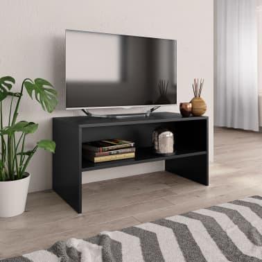 """vidaXL TV Cabinet Black 31.5""""x15.7""""x15.7"""" Chipboard[1/6]"""