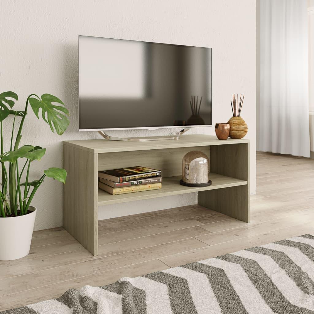 vidaXL Tv-meubel 80x40x40 cm spaanplaat Sonoma eikenkleur