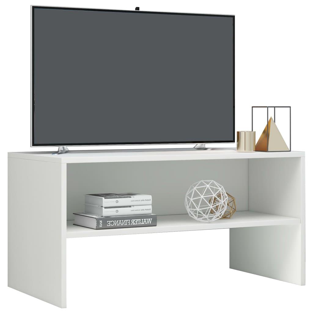 vidaXL Tv-meubel 80x40x40 cm spaanplaat hoogglans wit