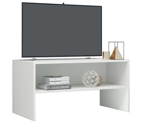 vidaXL Mueble de TV aglomerado blanco brillante 80x40x40 cm[3/6]