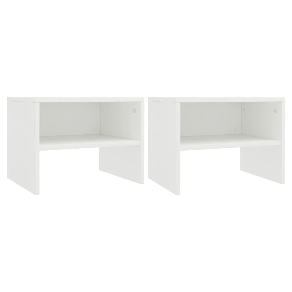 vidaXL Noční stolky 2 ks bílé 40 x 30 x 30 cm dřevotříska
