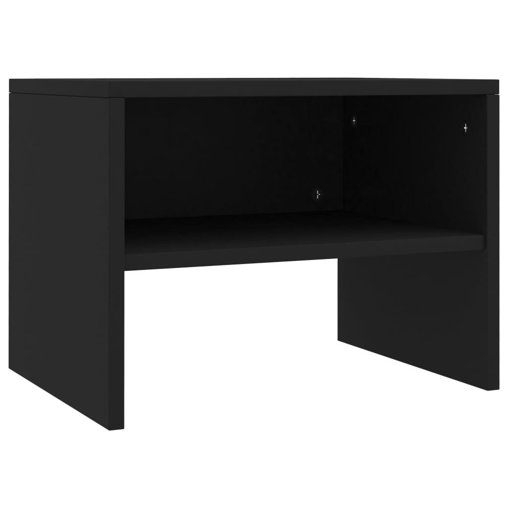 Noční stolek černý 40 x 30 x 30 cm dřevotříska